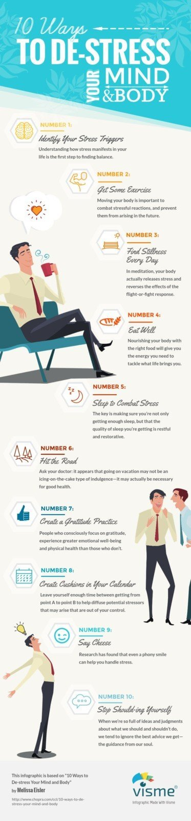 10 Ways to De-stress Your Mind and Body